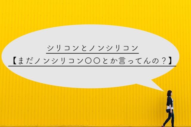 シリコンとノンシリコン【まだノンシリコン〇〇とか言ってんの?】