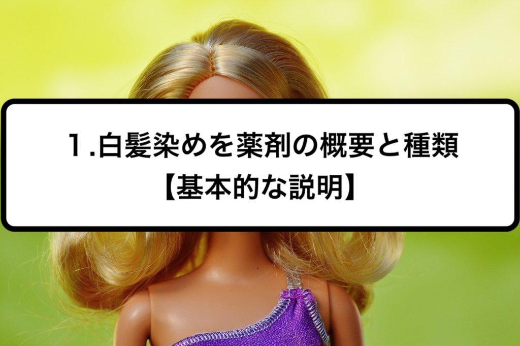 1.白髪染めを薬剤の概要と種類【基本的な説明】